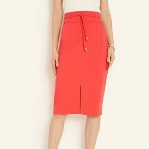 Ann Taylor Knotted Tie Waist Pencil Skirt